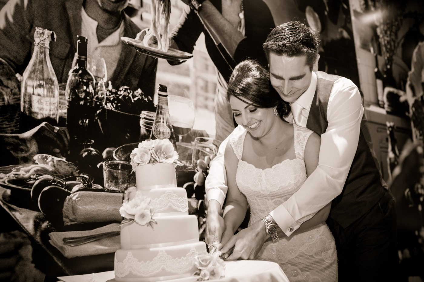 The Wedding Part 7 Reception Annaliese Maree - Godfather Wedding Cake